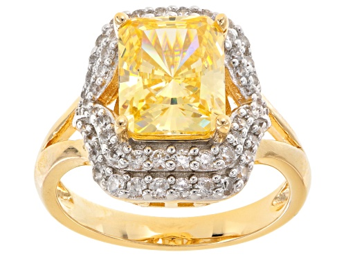 Photo of Bella Luce ® 7.38ctw Canary And White Daimond Simulants Eterno ™ Yellow Ring (4.41ctw Dew) - Size 7