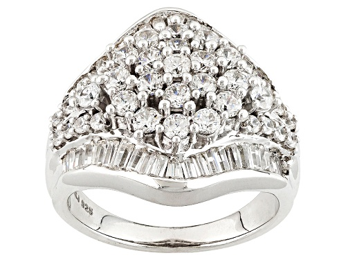Photo of Bella Luce ® 3.84ctw Diamond Simulant Rhodium Over Sterling Silver Ring (2.27ctw Dew) - Size 7
