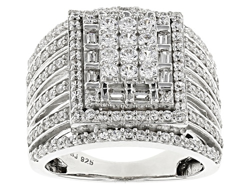 Photo of Bella Luce ® 2.98ctw Diamond Simulant Rhodium Over Sterling Silver Ring (1.43ctw Dew) - Size 7