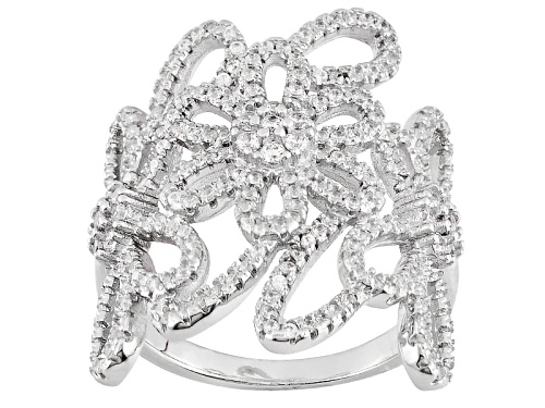 Photo of Bella Luce ® 2.19ctw Rhodium Over Sterling Silver Ring (1.26ctw Dew) - Size 5