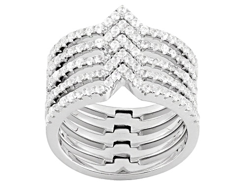 Photo of Bella Luce ® 1.26ctw Rhodium Over Sterling Silver Ring (.70ctw Dew) - Size 7