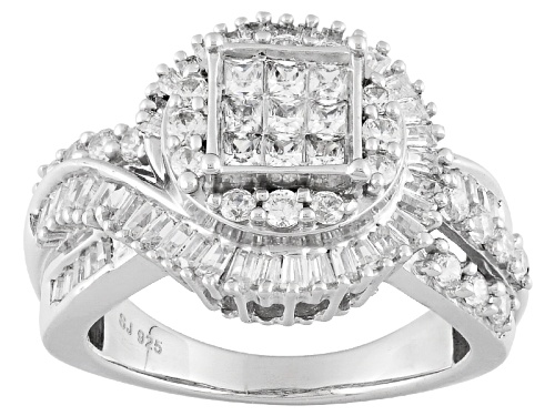 Photo of Bella Luce ® 2.30ctw Diamond Simulant Rhodium Over Sterling Silver Ring (1.67ctw Dew) - Size 11