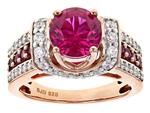 Photo of Bella Luce ® 1.99ctw Lab Created Ruby & White Diamond Simulant Round Eterno ™ Rose Ring - Size 6