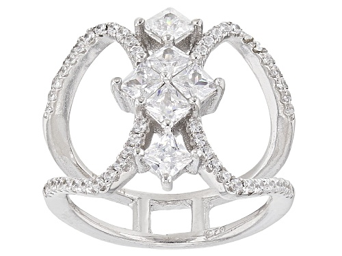Photo of Bella Luce ® .60ctw Rhodium Over Sterling Silver Ring (.30ctw Dew) - Size 5