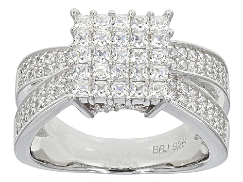 Photo of Bella Luce ® 2.25ctw Diamond Simulant Rhodium Over Sterling Silver Ring (1.22ctw Dew) - Size 11