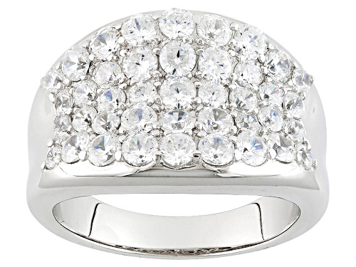 Photo of Bella Luce ® 1.86ctw Diamond Simulant Round Rhodium Over Sterling Silver Ring (1.46ctw Dew) - Size 5