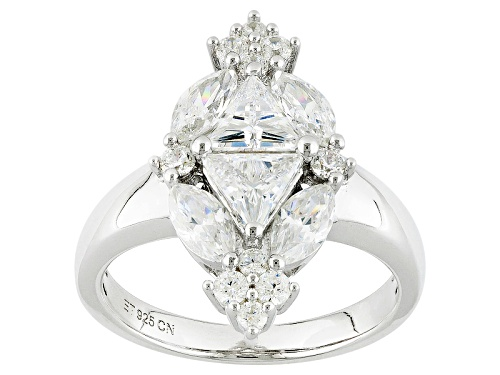 Photo of Bella Luce ® 3.40ctw Diamond Simulant Rhodium Over Sterling Silver Ring (2.64ctw Dew) - Size 6