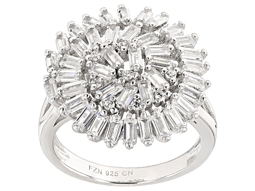 Bella Luce ® 4.08ctw Rhodium Over Sterling Silver Ring (2.54ctw Dew) - Size 10