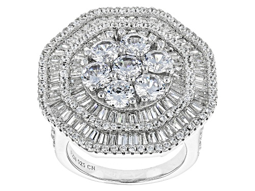 Photo of Bella Luce ® 8.24ctw Rhodium Over Sterling Silver Ring (4.97ctw Dew) - Size 5
