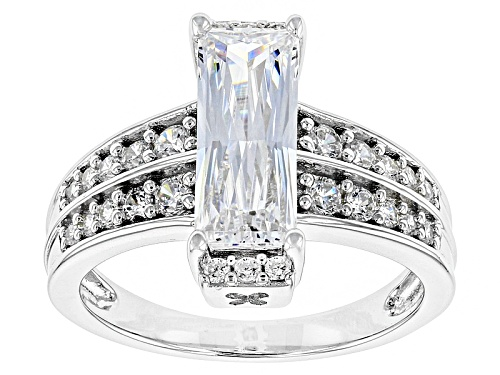 Photo of Bella Luce ® 3.77ctw White Diamond Simulant Rhodium Over Sterling Silver Ring (2.02ctw Dew) - Size 11