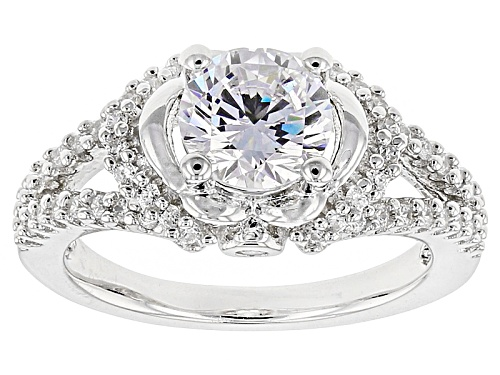 Photo of Bella Luce ® 2.36ctw White Diamond Simulant Rhodium Over Sterling Silver Ring (1.58ctw Dew) - Size 8