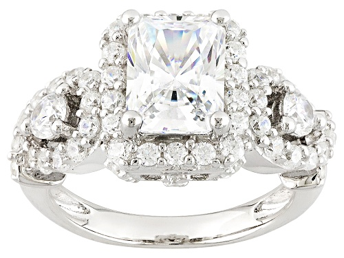 Photo of Bella Luce ® 4.52ctw White Diamond Simulant Rhodium Over Sterling Silver Ring (2.77ctw Dew) - Size 10