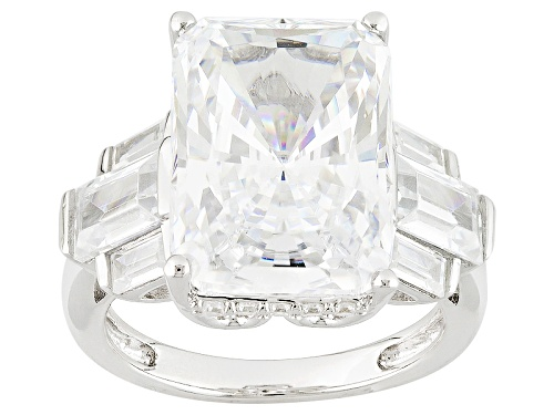 Photo of Bella Luce ® 17.02ctw White Diamond Simulant Rhodium Over Sterling Silver Ring (9.82ctw Dew) - Size 10