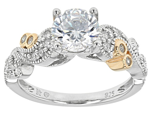 Photo of Bella Luce ® 2.43ctw Rhodium And 14k Yellow Gold Over Sterling Silver Ring (1.47ctw Dew) - Size 8