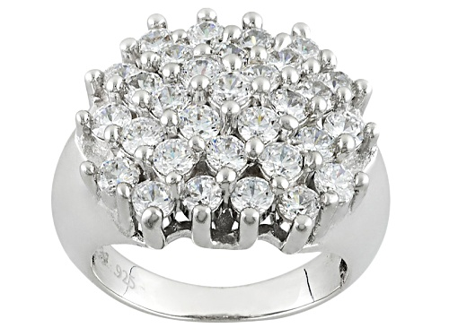 Photo of Bella Luce ® 5.38ctw Diamond Simulant Rhodium Over Sterling Silver Ring (2.48ctw Dew) - Size 8