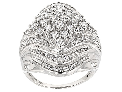 Photo of Bella Luce ® 4.18ctw Rhodium Over Sterling Silver Ring (2.30ctw Dew) - Size 5