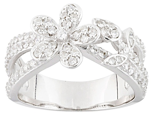 Photo of Bella Luce ® 1.18ctw White Diamond Simulant Rhodium Over Sterling Silver Flower Ring (.78ctw Dew) - Size 7