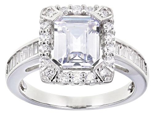 Photo of Bella Luce ® 5.20ctw White Diamond Simulant Rhodium Over Sterling Silver Ring (3.61ctw Dew) - Size 12