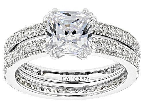 Photo of Bella Luce ® 4.03ctw Diamond Simulant Rhodium Over Sterling Silver Ring With Band(2.85ctw Dew) - Size 12