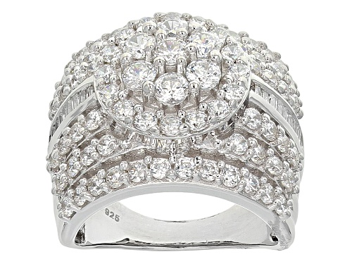 Photo of Bella Luce ® 5.85ctw Diamond Simulant Rhodium Over Sterling Silver Ring (3.77ctw Dew) - Size 11