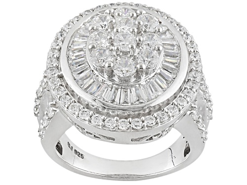 Photo of Bella Luce ® 5.69ctw Diamond Simulant Rhodium Over Sterling Silver Ring (4.23ctw Dew) - Size 6