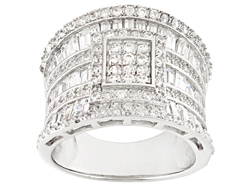 Photo of Bella Luce ® 3.62ctw Rhodium Over Sterling Silver Ring (2.81ctw Dew) - Size 5