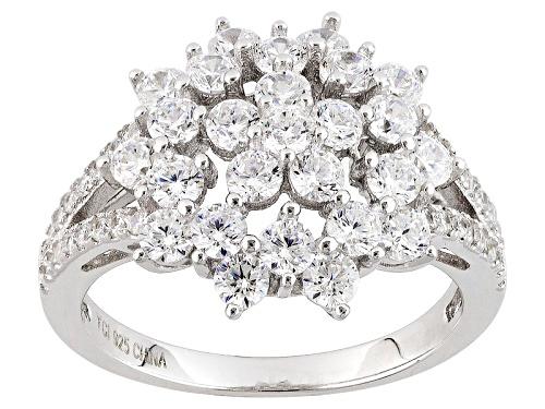 Photo of Bella Luce ® 2.92ctw Rhodium Over Sterling Silver Ring (1.77ctw Dew) - Size 5