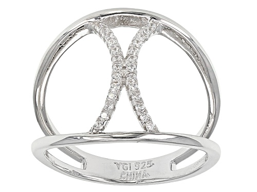 Photo of Bella Luce ® .26ctw Rhodium Over Sterling Silver Ring  (.13ctw Dew) - Size 7