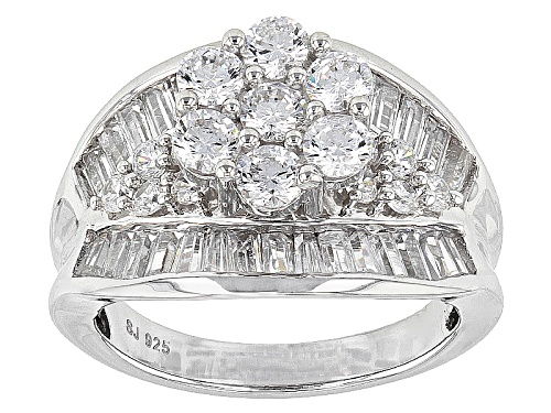 Photo of Bella Luce ® 5.21ctw Diamond Simulant Rhodium Over Sterling Silver Ring (3.17ctw Dew) - Size 11