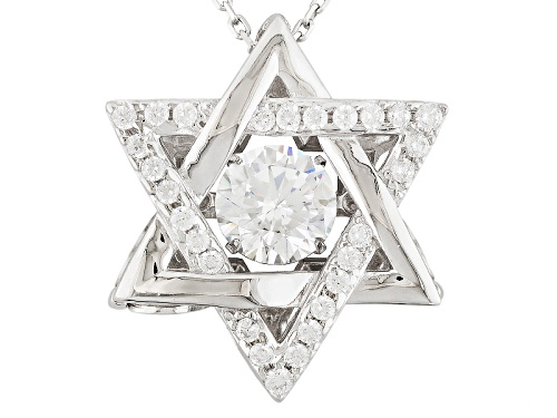 "Photo of Bella Luce ®2.18ctw Rhodium Over Sterling Silver ""Dancing Bella"" Pendant With Chain (1.31ctw Dew)"
