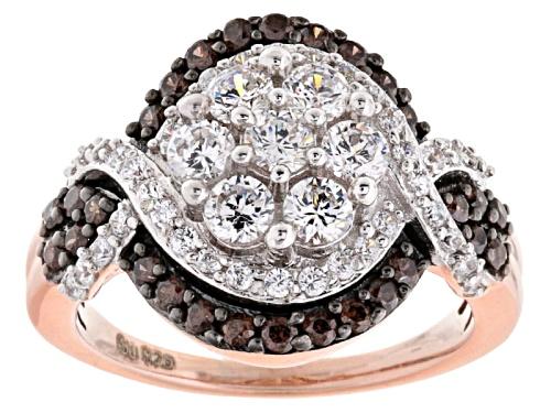 Photo of Bella Luce ® 2.76ctw White & Champagne Diamond Simulant Round Eterno ™ Rose Ring 1.57ctw Dew) - Size 6