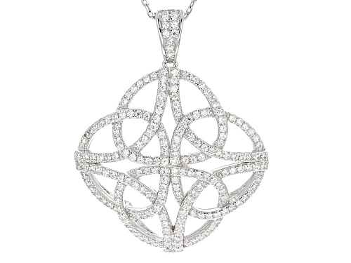 Photo of Bella Luce ® .96ctw Rhodium Over Sterling Silver Pendant With Chain (.48ctw Dew)