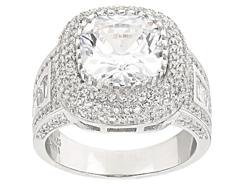 Photo of Bella Luce ® 10.64ctw Rhodium Over Sterling Silver Ring (5.46ctw Dew) - Size 7
