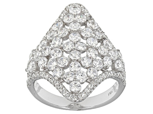 Photo of Bella Luce ® 4.99ctw Rhodium Over Sterling Silver Ring (2.96 Ctw Dew) - Size 6