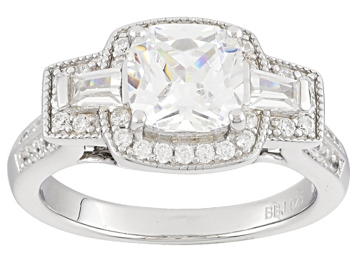 Photo of Bella Luce ® 3.54ctw Rhodium Over Sterling Silver Ring (1.84ctw Dew) - Size 8