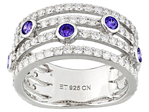 Photo of Bella Luce ® 3.49ctw Purple And White Diamond Simulants Rhodium Over Sterling Silver Ring - Size 7