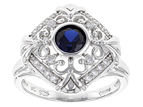Photo of Bella Luce ® 1.15ctw Lab Created Sapphire And White Diamond Simulants Rhodium Over Sterling Ring - Size 6