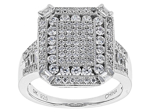 Photo of Bella Luce ® 1.89ctw White Diamond Simulant Rhodium Over Sterling Silver Ring (1.34ctw Dew) - Size 11