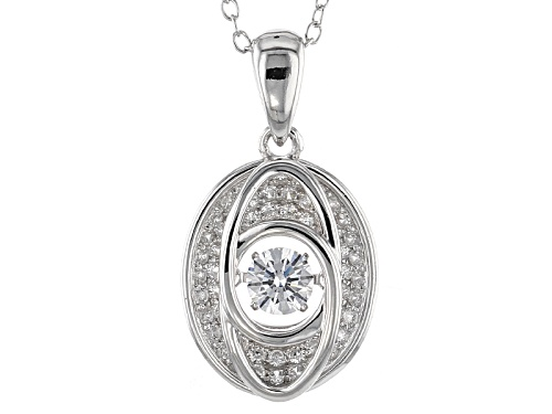 "Photo of Bella Luce ® 1.00ctw Rhodium Over Sterling Silver ""Dancing Bella"" Pendant With Chain (.74ctw Dew)"