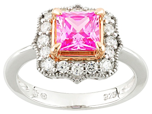 Photo of Bella Luce ® Diamond Simulants Rhodium Over Sterling & 18k Rose Gold Accent Plating Ring - Size 10
