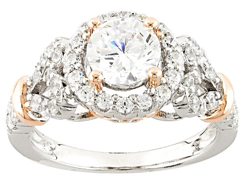 Photo of Bella Luce ® Diamond Simulant Rhodium & 18k Rose Gold Over Sterling Silver Ring - Size 10