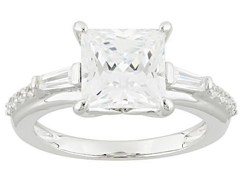 Photo of Bella Luce ® 5.60ctw Diamond Simulant Rhodium Over Sterling Silver Ring (3.31ctw Dew) - Size 10