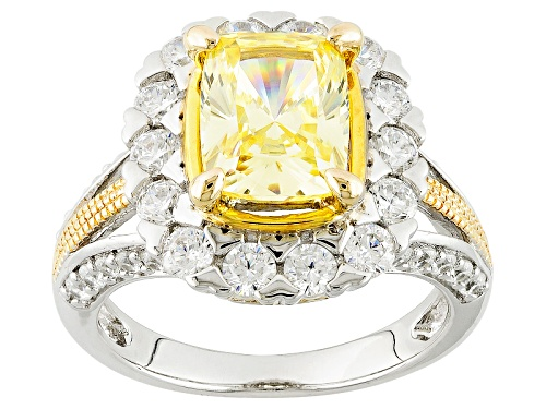 Photo of Bella Luce ® Diamond Simulants Rhodium & 18k Yellow Gold Over Sterling Silver Ring - Size 10