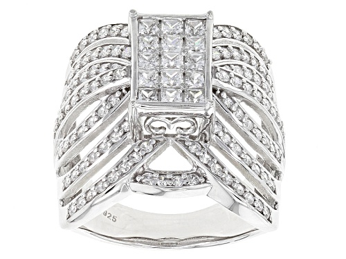 Photo of Bella Luce ® 2.86ctw Diamond Simulant Rhodium Over Sterling Silver Ring (1.65ctw Dew) - Size 7