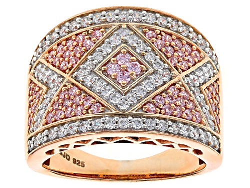 Photo of Bella Luce ® 2.21ctw Pink & White Diamond Simulant Round Eterno ™ Rose Ring (.95ctw Dew) - Size 5