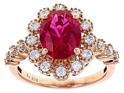 Photo of Bella Luce ® 4.59ctw Lab Created Ruby & White Diamond Simulant Eterno ™ Rose Ring - Size 10