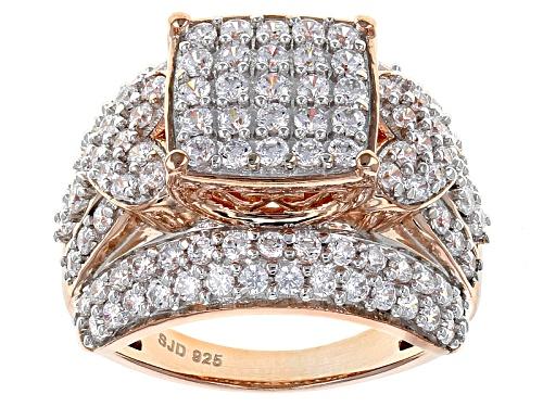 Photo of Bella Luce ® 3.65ctw Diamond Simulant Round Eterno ™ Rose Ring (1.82ctw Dew) - Size 5