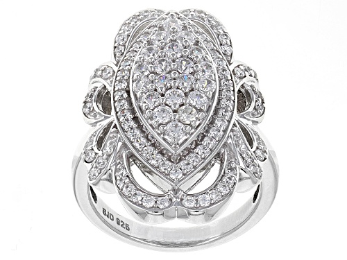 Photo of Bella Luce ® 2.62ctw Diamond Simulant Round Rhodium Over Sterling Silver Ring (1.13ctw Dew) - Size 5