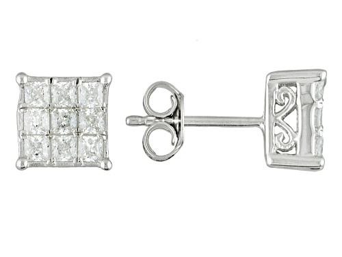 Photo of Bella Luce ® 1.45ctw Diamond Simulant Rhodium Over Sterling Silver Earrings (1.08ctw Dew)