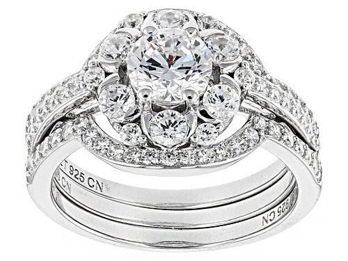 Photo of Bella Luce ® 4.42ctw Diamond Simulant Rhodium Over Sterling Silver Ring With Bands (1.89ctw Dew) - Size 9